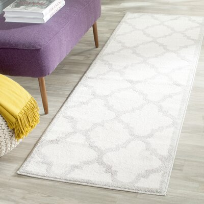 Maritza Beige & Light Gray Indoor/Outdoor Area Rug Rug Size: Runner 23 x 9