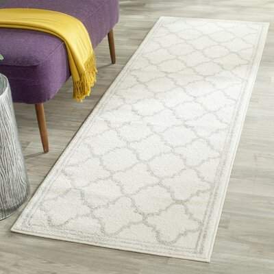 Maritza Beige/Light Grey Area Rug Rug Size: Runner 23 x 9