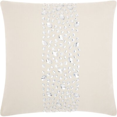 Fedor Faux Leather Throw Pillow Color: Beige