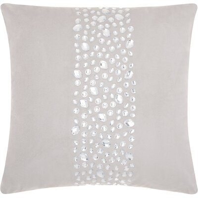 Fedor Faux Leather Throw Pillow Color: Silver/Gray