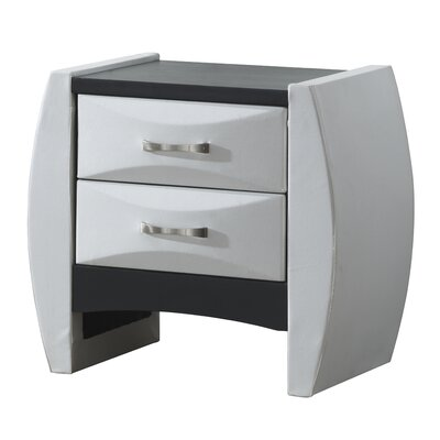 Charee 2 Drawer Wood Nightstand Color: White