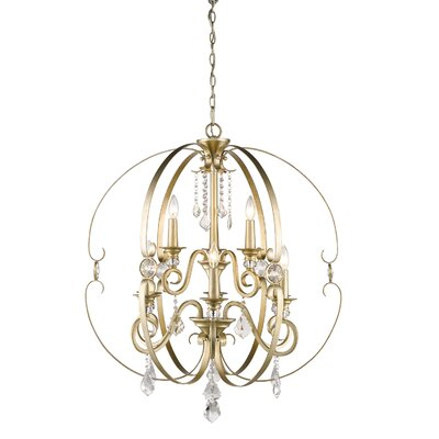 Hardouin 9-Light Foyer Pendant Finish: Gold