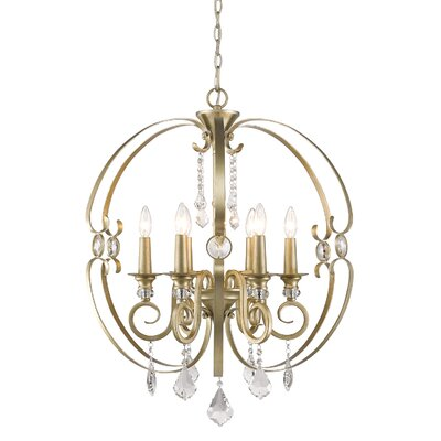 Hardouin 6-Light Foyer Pendant Finish: White Gold