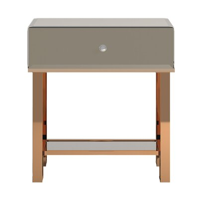 Desid�ria End Table Color: Champagne Gold