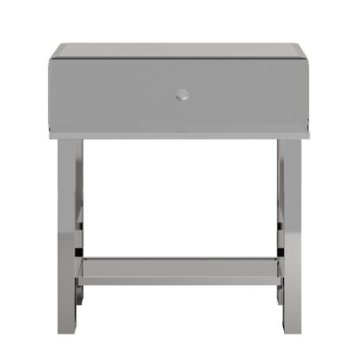 Desid�ria End Table Color: Chrome