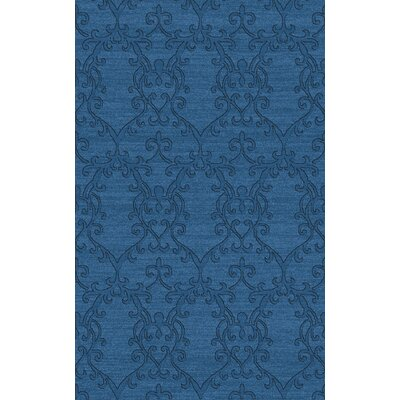Baccarin Hand-Woven Teal Area Rug