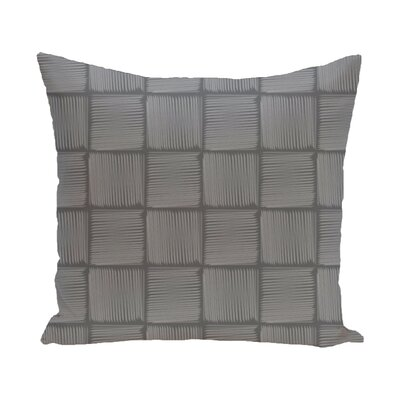 Parsons Basketweave Geometric Print  OutdoorThrow Pillow Size: 18 H x 18 W, Color: Gray