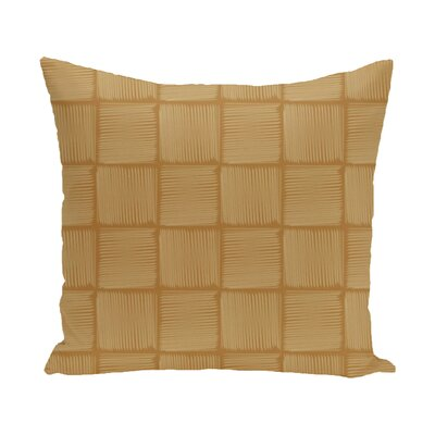 Parsons Basketweave Geometric Print  OutdoorThrow Pillow Size: 18 H x 18 W, Color: Gold
