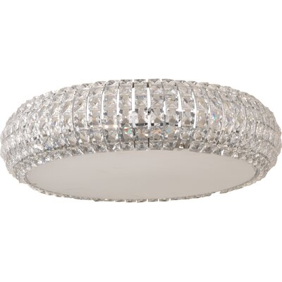 Bender 4-Light Flush Mount Size: 6.25 H x 15.75 W