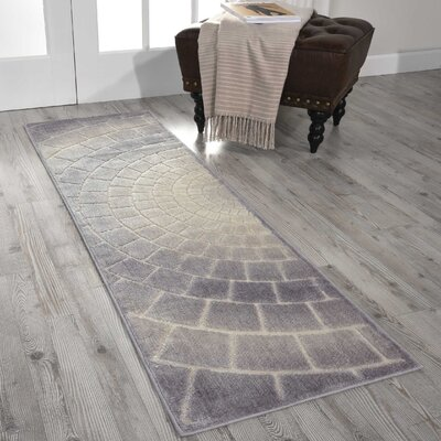 Cadmium Light Gray Area Rug Rug Size: Runner 11 x 6