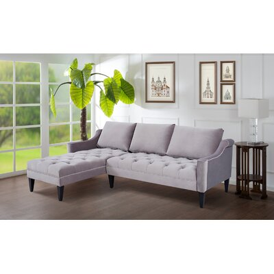 Wath-Upon-Dearne Sectional Upholstery: Opal Gray