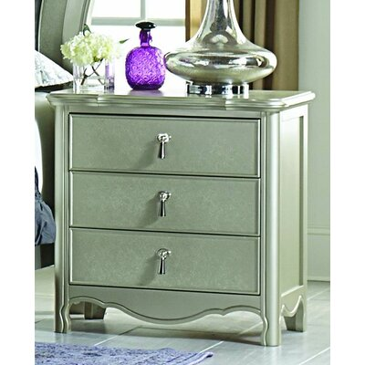 Renato 3 Drawer Nightstand