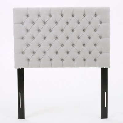 Jarrett Twin Upholstered Panel Headboard Upholstery: Light Gray