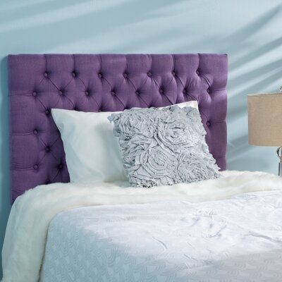 Jarrett Twin Upholstered Panel Headboard Upholstery: Purple