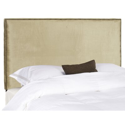 Farringdon Upholstered Wingback Headboard Size: Full, Color: Olive Green, Upholstery: Polyester