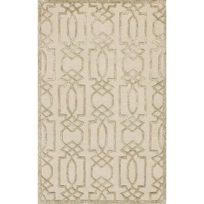 Mcguire Hand-Tufted Sand/Brown Area Rug Rug Size: 6 x 9
