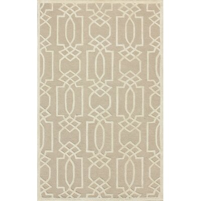 Janine Hand-Tufted Sand/Ivory Area Rug Rug Size: Rectangle 4 x 6
