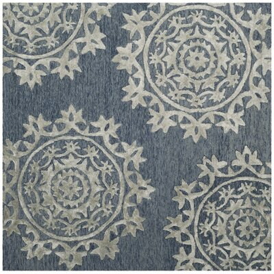 Mcguire Hand-Tufted Blue Indoor Area Rug Rug Size: Square 5