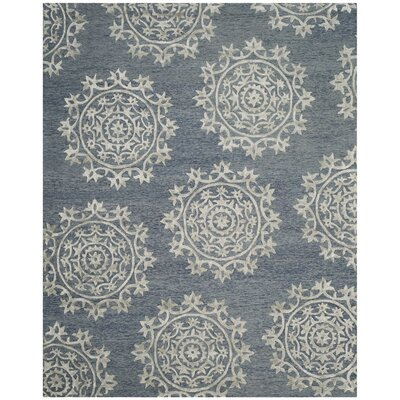 Mcguire Hand-Tufted Blue Indoor Area Rug Rug Size: Rectangle 8 x 10
