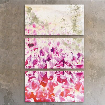 Gold Spring Triptych 3 Piece Graphic Art on Wrapped Canvas Set
