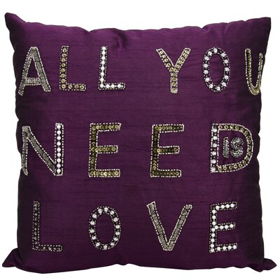 Edenbridge Throw Pillow Color: Purple
