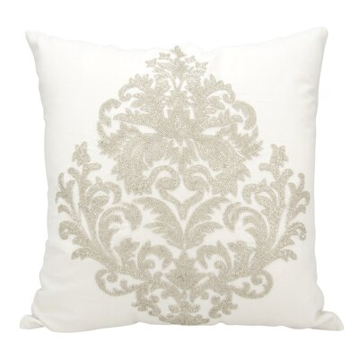 Edenbridge Cotton Throw Pillow Color: Silver