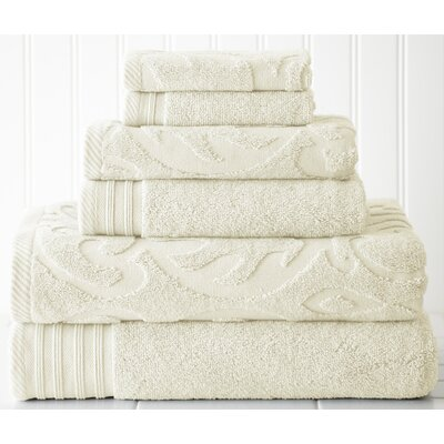 Solid 6 Piece Towel Set Color: Ivory
