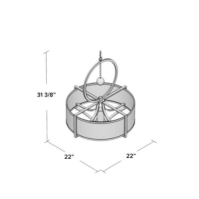 Beasley 3-Light Drum Pendant