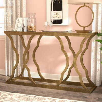 Remicourt Console Table Finish: Antique Gold Leaf