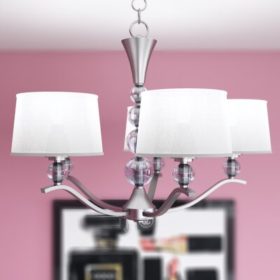 Rojo Crystal Ball 5-Light Shaded Chandelier