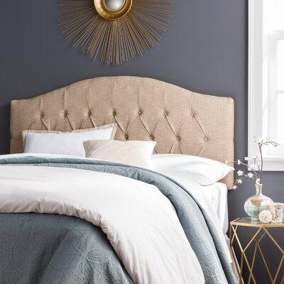 Lesa Upholstered Headboard Size: Queen, Upholstery: Beige