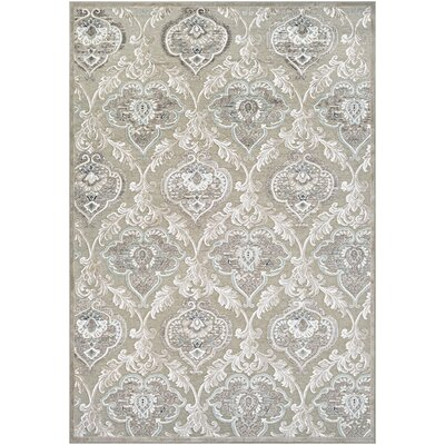 McNamara Antique Cream/Mushroom Area Rug Rug Size: 21 x 37