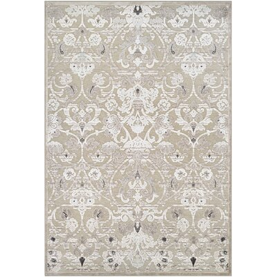 McNamara Antique Cream/Mushroom Area Rug Rug Size: 53 x 76