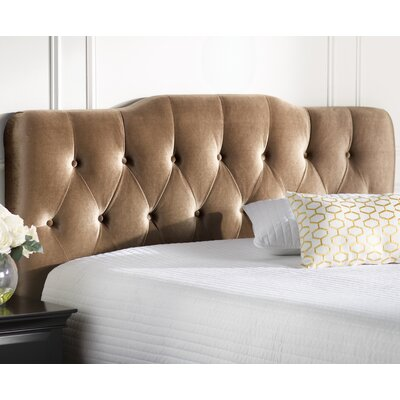 Alsop Upholstered Panel Headboard Size: Queen, Upholstery: Gold