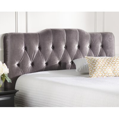 Alsop Upholstered Panel Headboard Upholstery: Slate, Size: King