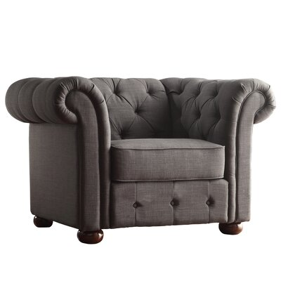Augistine Chesterfield Chair Upholstery: Dark Gray