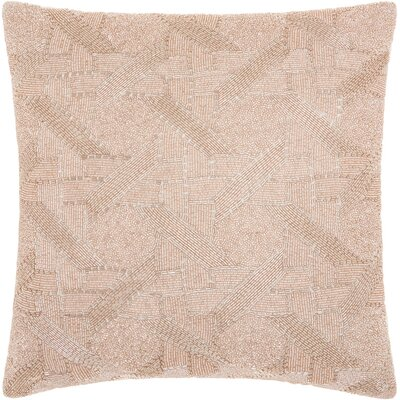 Aylesworth 100% Cotton Throw Pillow Color: Blush
