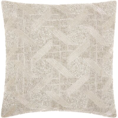 Celestiel Cotton Throw Pillow Color: Silver
