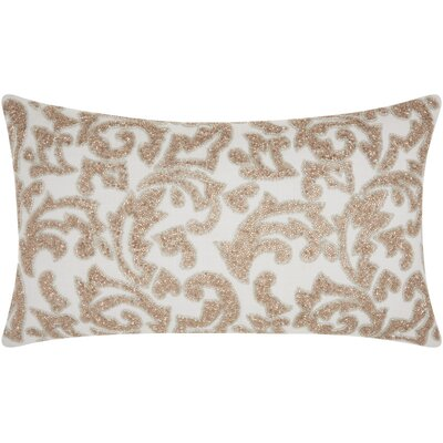 Celestiel 100% Cotton Lumbar Pillow Color: Champagne