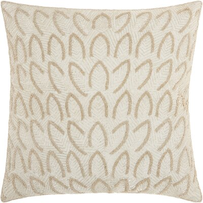 Sharonda Geometric Square Throw Pillow Color: Silver
