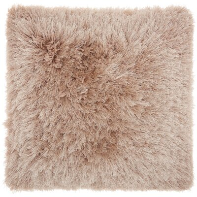 Bowyer Shag Throw Pillow Color: Beige