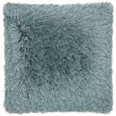 Bowyer Shag Throw Pillow Color: Celadon