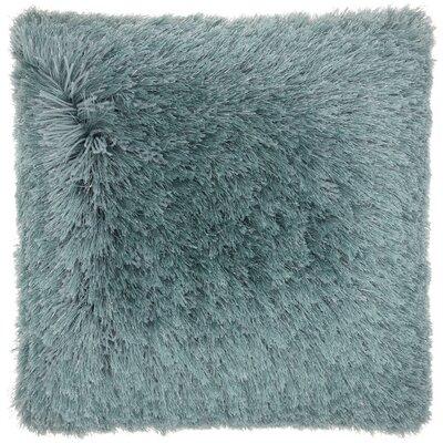 Andrewson Shag Throw Pillow Color: Celadon