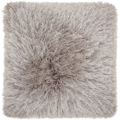 Bowyer Shag Throw Pillow Color: Light Gray