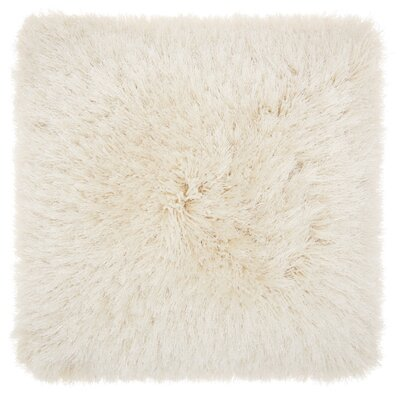 Bowyer Shag Throw Pillow Color: Light Cream