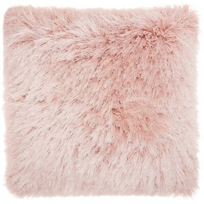Andrewson Shag Throw Pillow Color: Rose