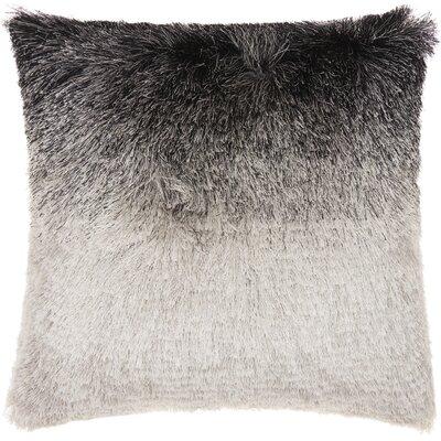 Rosia Shag Throw Pillow Color: Black/Silver