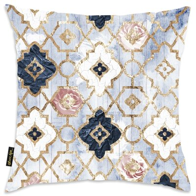 Tufnell Rose Quartz Moroccan Velvet Throw Pillow