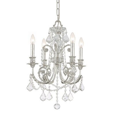 Frida 4-Light Crystal Chandelier Crystal Type: Swarovski Strass
