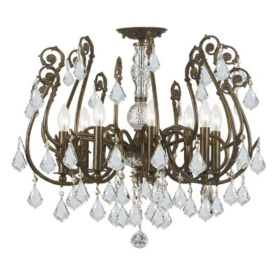 Frida 8-Light Semi Flush Mount Crystal Grade: Swarovski  spectra